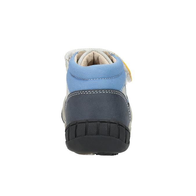 Dziecięce buty za kostkę, zzapięciem na rzepy bubblegummer, szary, 111-2616 - 17