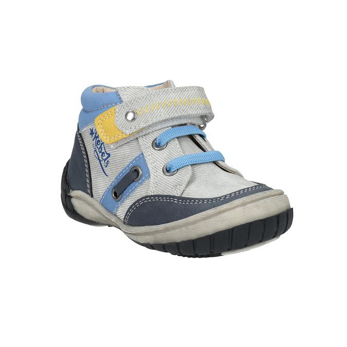 Dziecięce buty za kostkę, zzapięciem na rzepy bubblegummer, szary, 111-2616 - 13