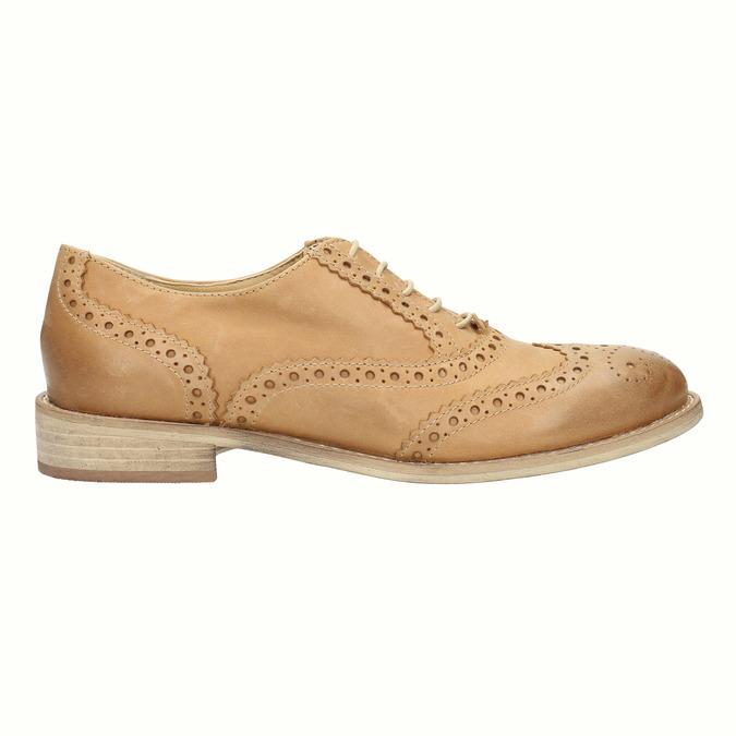 Skórzane buty Oxford ze zdobieniem typu Brogue bata, brązowy, 524-3482 - 15