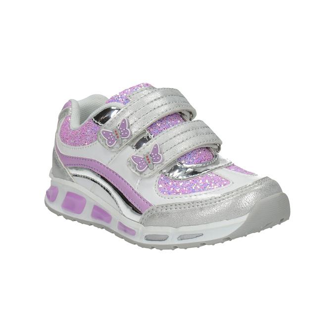 Dziecięce buty sportowe z brokatem mini-b, szary, 221-2603 - 13