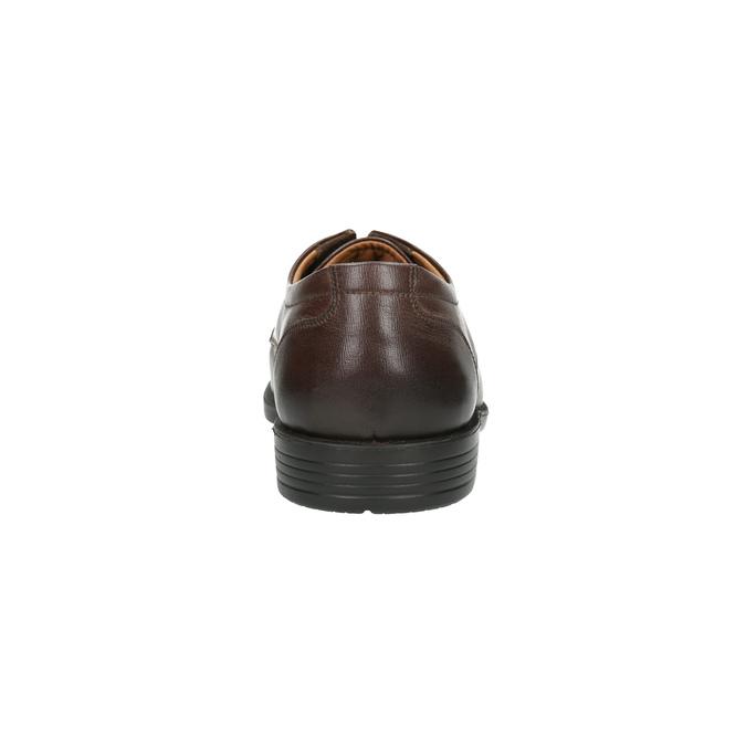 Skórzane półbuty męskie zprzeszyciem na nosku bata, brązowy, 824-4815 - 17