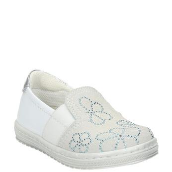 Skórzane dziecięce buty typu Slip-on bubblegummer, biały, 123-1600 - 13