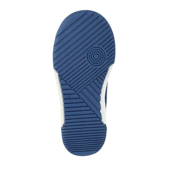 Skórzane dziecięce buty sportowe na rzepy mini-b, szary, 214-2600 - 26
