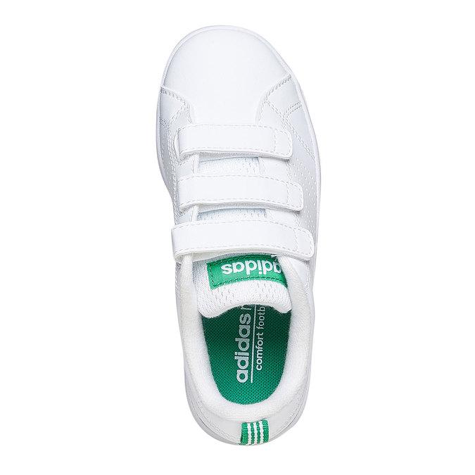 Dziecięce buty sportowe na rzepy w kolorze białym adidas, biały, 301-1168 - 19