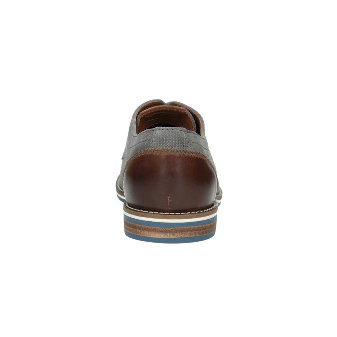 Szare nieformalne półbuty ze skóry bata, szary, 823-2600 - 17