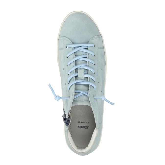 Damskie skórzane trampki do kostki bata, niebieski, 523-9602 - 19
