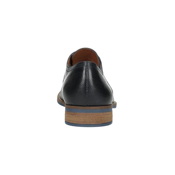 Czarne półbuty męskie ze skóry bata, niebieski, 826-6793 - 17