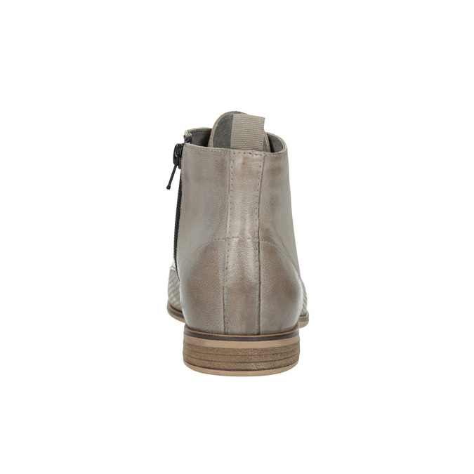 Skórzane botki bata, brązowy, 596-2645 - 17