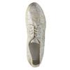 Złote trampki ze skóry bata, srebrny, 526-8633 - 19