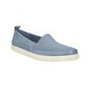 Damskie skórzane buty z perforacją bata, niebieski, 516-9601 - 13