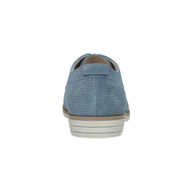Niebieskie skórzane półbuty bata, niebieski, 523-9600 - 17