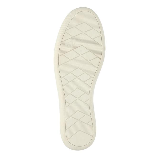Damskie skórzane buty z perforacją bata, niebieski, 516-9601 - 26