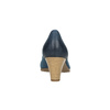 Damskie skórzane czółenka bata, niebieski, 626-9639 - 17