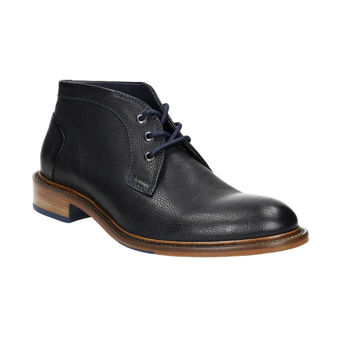 Buty za kostkę wykonane w całości ze skóry bata, niebieski, 826-9909 - 13