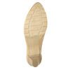 Skórzane czółenka na niskim obcasie bata, beżowy, 626-8639 - 17
