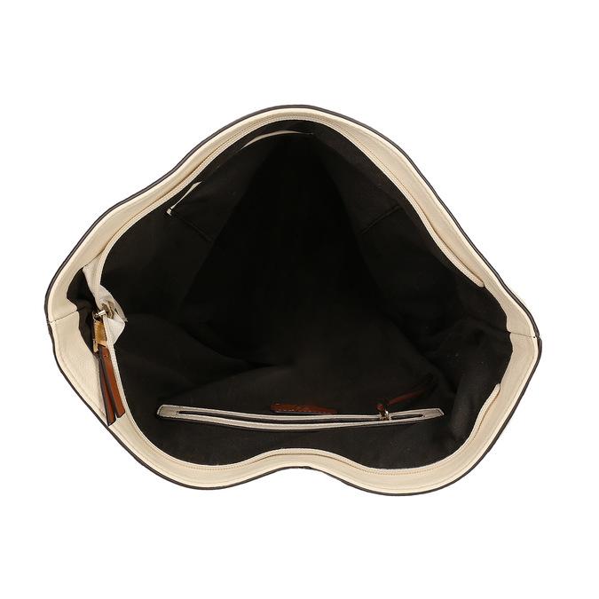 Torba wstylu hobo bata, beżowy, 961-8705 - 15