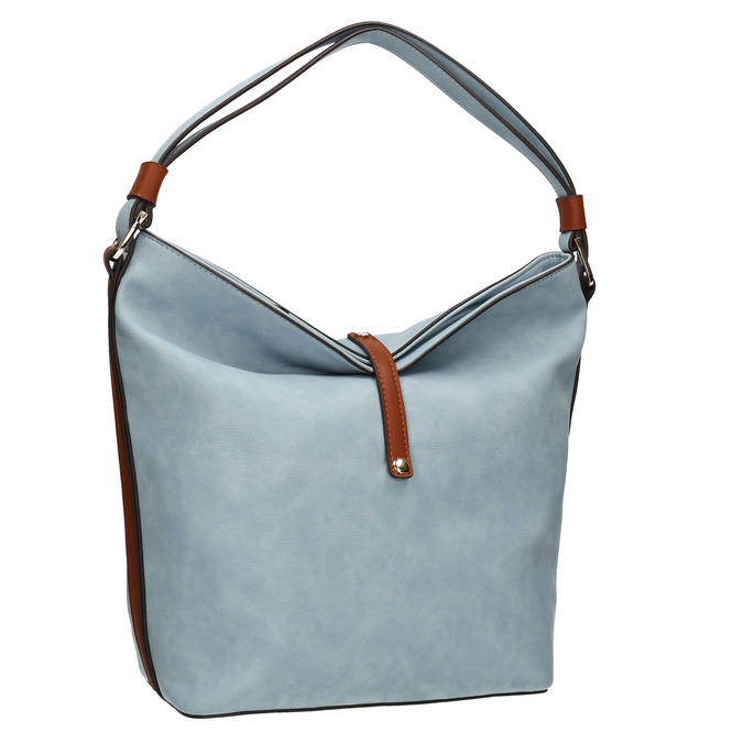 Błękitna torba wstylu hobo bata, niebieski, 961-9705 - 13