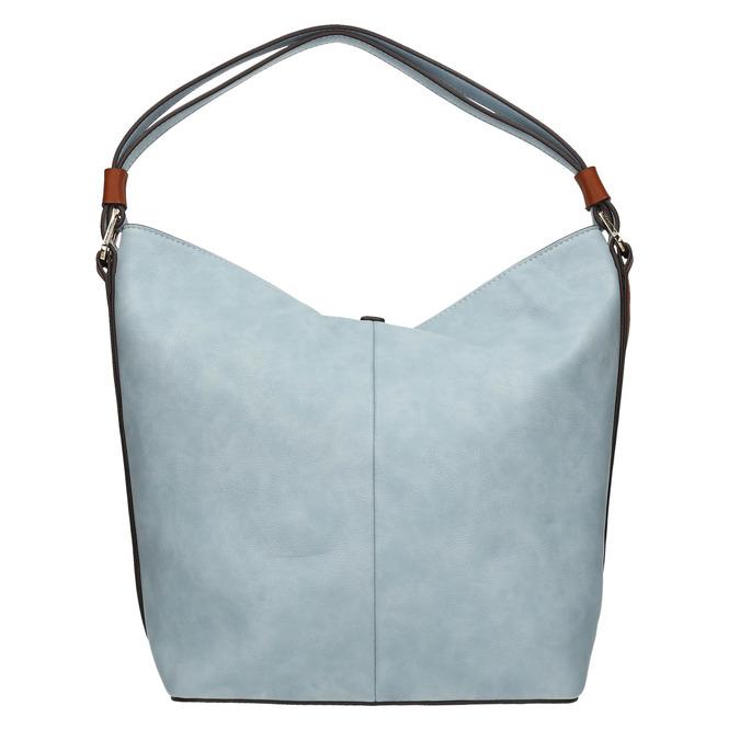 Błękitna torba wstylu hobo bata, niebieski, 961-9705 - 19