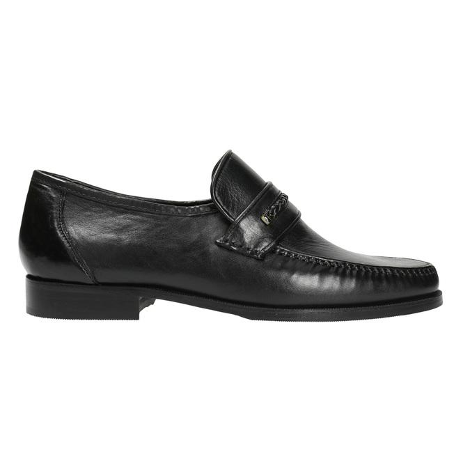Skórzane męskie buty typu Loafers bata, czarny, 814-6621 - 15
