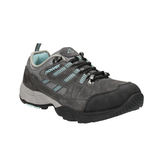 Skórzane buty damskie w stylu outdoor power, szary, 503-2118 - 13