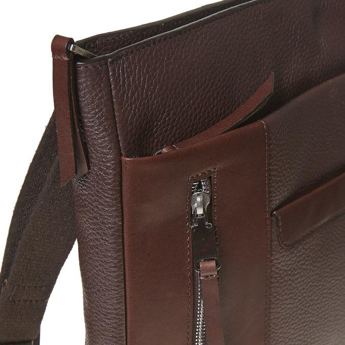 Skórzana torba męska typu crossbody bata, brązowy, 964-4230 - 17