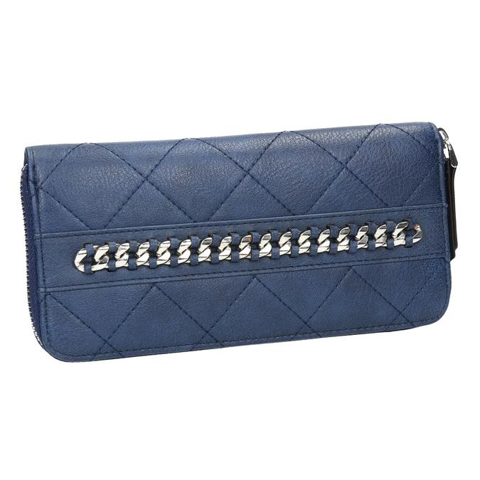 Pikowany portfel damski bata, niebieski, 941-9146 - 13
