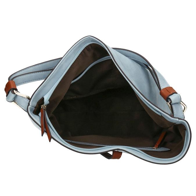 Błękitna torba wstylu hobo bata, niebieski, 961-9705 - 15