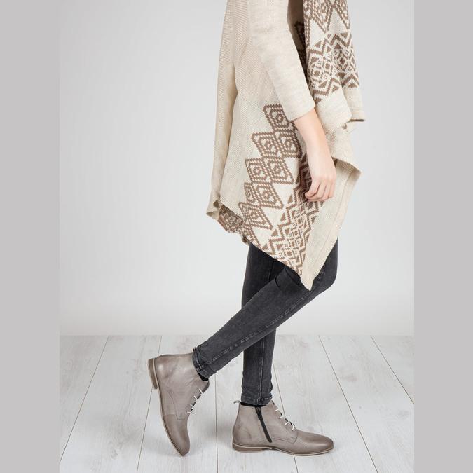 Skórzane botki bata, brązowy, 596-2645 - 18