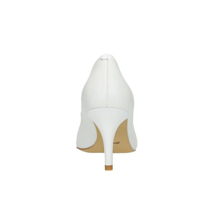 Damskie skórzane czółenka bata, biały, 624-1632 - 17