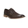 Brązowe półbuty ze skóry, zkontrastowymi przeszyciami bata, brązowy, 826-4815 - 13