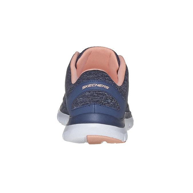 Sportowe trampki damskie skechers, niebieski, 509-9963 - 17