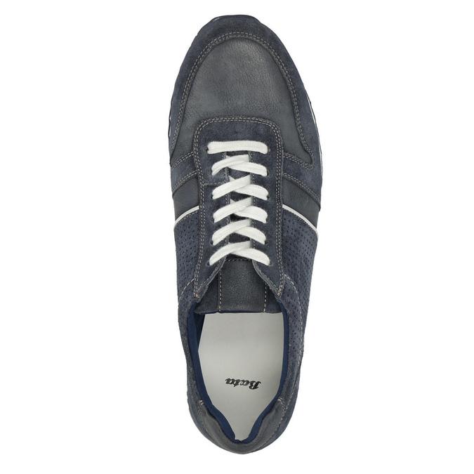 Skórzane trampki męskie bata, niebieski, 843-9624 - 19