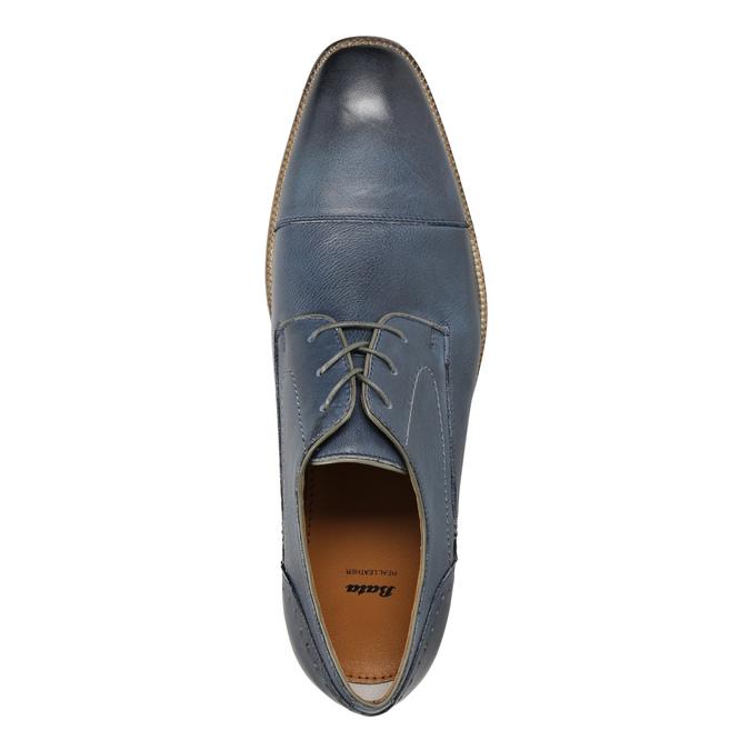 Niebieskie półbuty ze skóry bata, niebieski, 826-9801 - 19