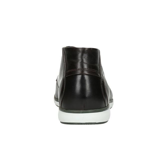 Skórzane buty za kostkę znieformalną podeszwą bata, czarny, 826-4818 - 17