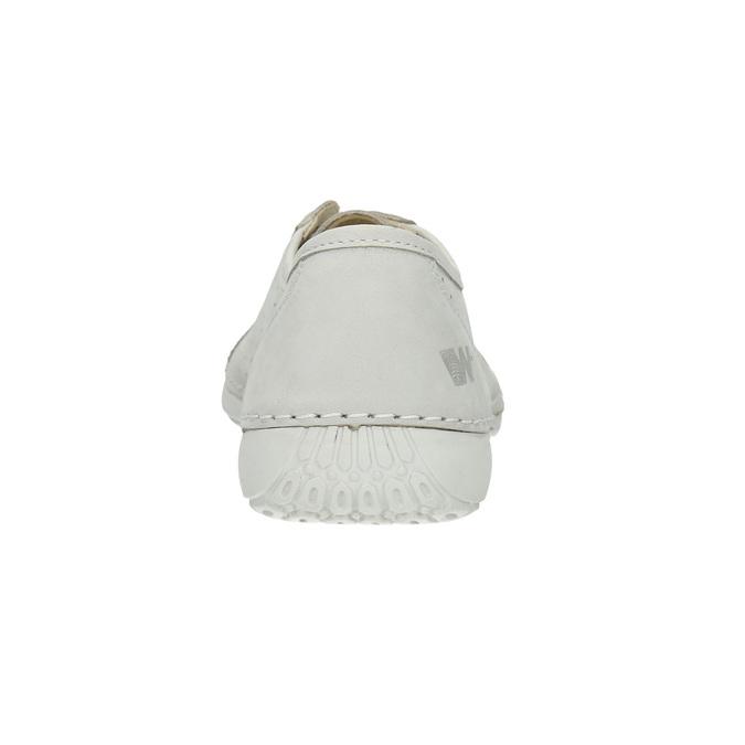 Nieformalne skórzane półbuty damskie weinbrenner, biały, 546-1602 - 17