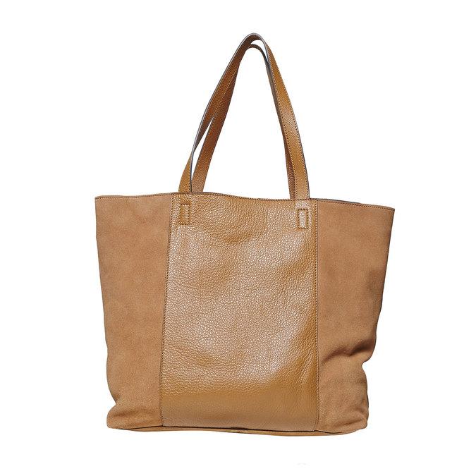 Brązowa skórzana torba damska bata, brązowy, 964-3185 - 26