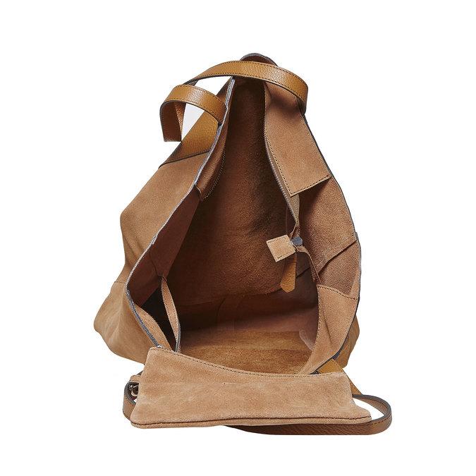 Brązowa skórzana torba damska bata, brązowy, 964-3185 - 15