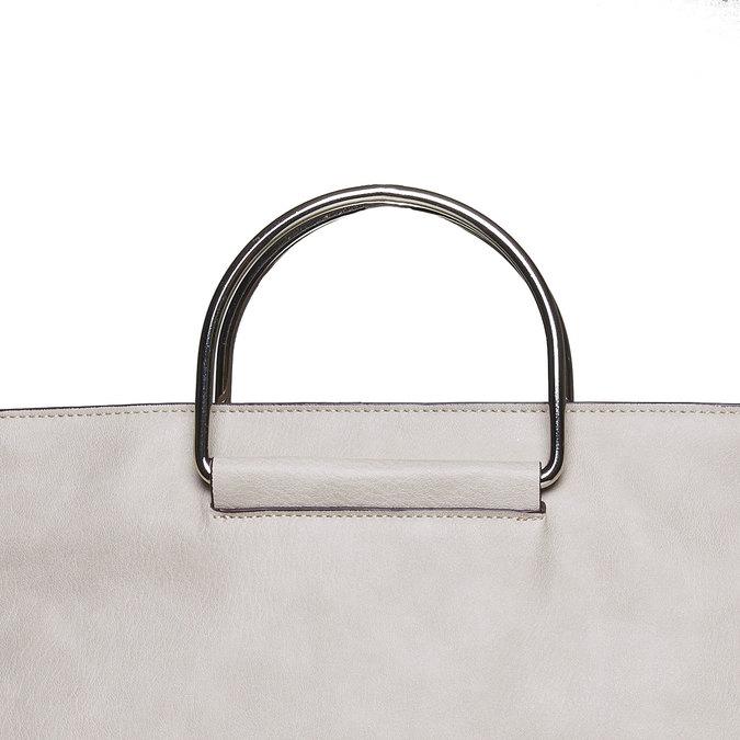 Kremowa torba damska bata, szary, 961-8327 - 17