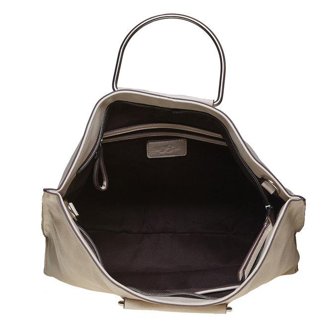 Kremowa torba damska bata, szary, 961-8327 - 15