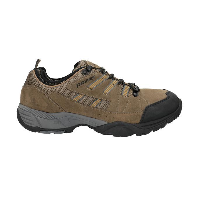 Skórzane buty w stylu outdoor power, brązowy, 803-3118 - 15