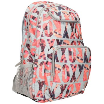 Plecak wkolorowy deseń roxy, szary, 969-2071 - 13