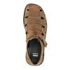 Brązowe skórzane sandały męskie bata, brązowy, 864-4600 - 19