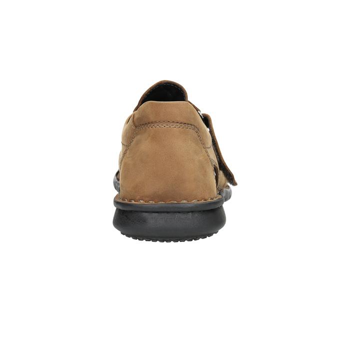 Brązowe skórzane sandały męskie bata, brązowy, 864-4600 - 17
