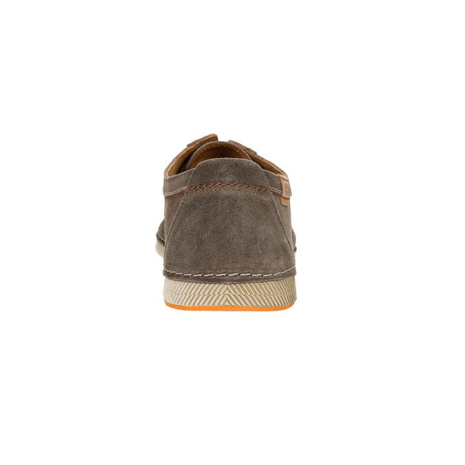 Zamszowe półbuty wcodziennym stylu weinbrenner, brązowy, 843-4629 - 17