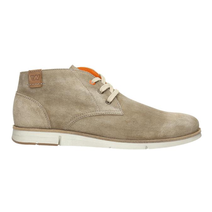 Zamszowe buty za kostkę weinbrenner, beżowy, 843-4625 - 15