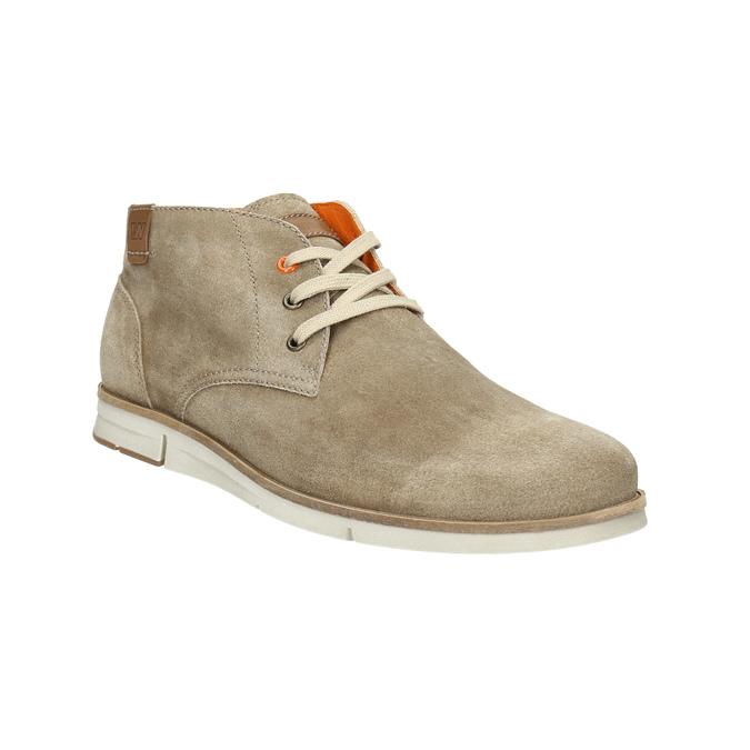 Zamszowe buty za kostkę weinbrenner, beżowy, 843-4625 - 13