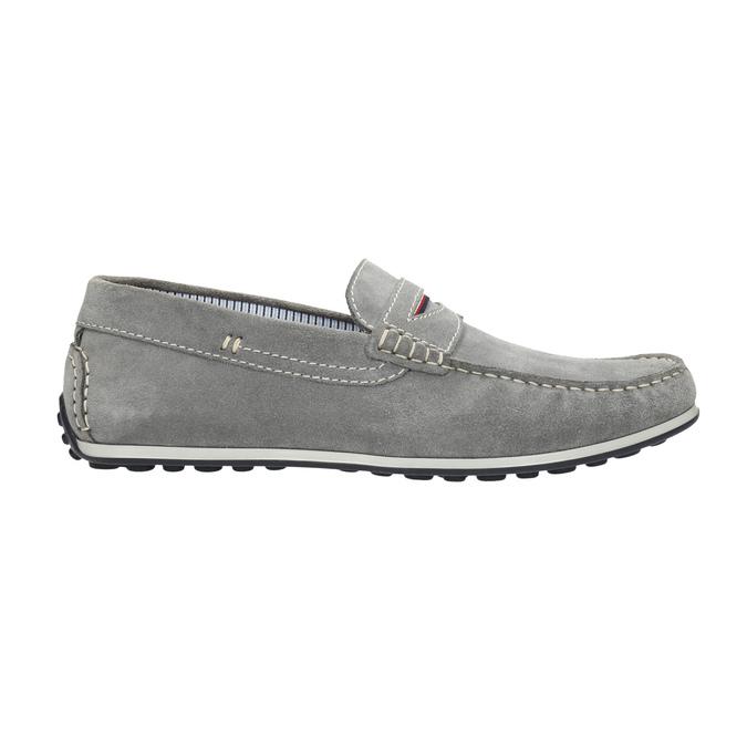 Zamszowe mokasyny męskie bata, szary, 853-2614 - 15
