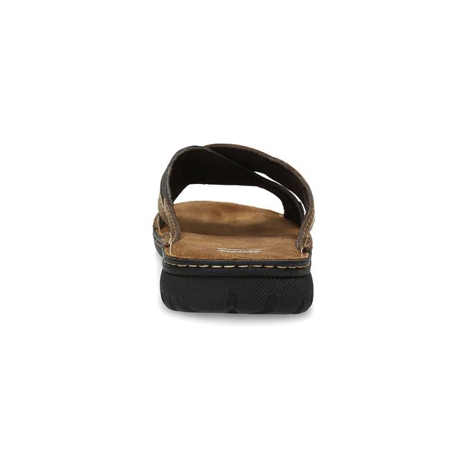 Letnie skórzane klapki męskie bata, brązowy, 866-4612 - 15