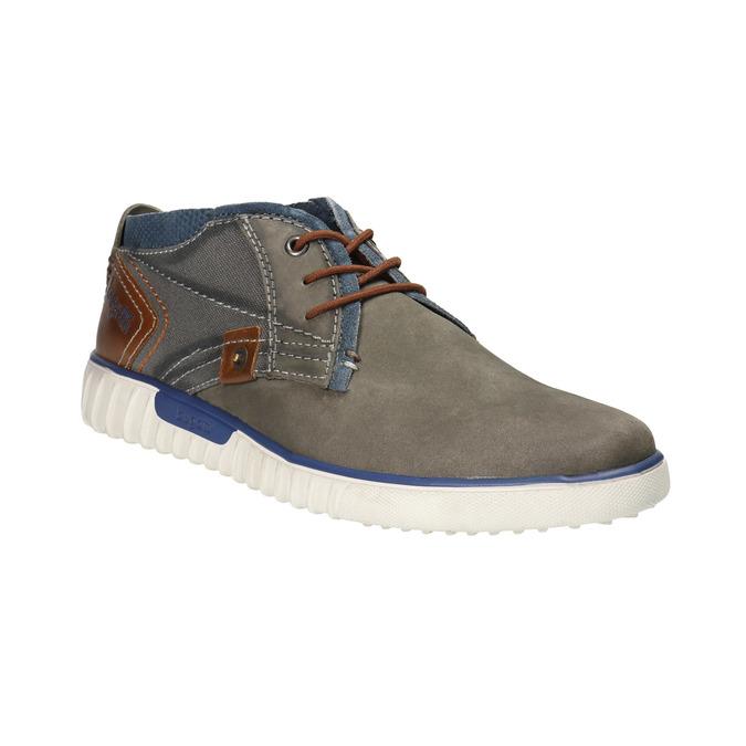 Skórzane buty za kostkę bugatti, szary, 846-2635 - 13