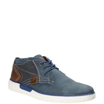 Skórzane buty za kostkę bugatti, niebieski, 846-9635 - 13